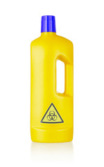 Plastic bottle cleaning-detergent, biohazard