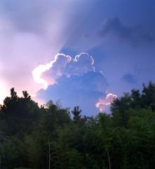 Spectacular cloud at sunset