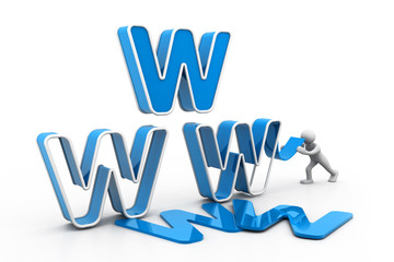 World wide web under construction new concept