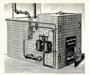 Boiler for steam heating