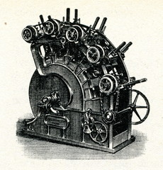 Voelter's wood pulp grinding machine 1847
