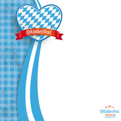 Blue Cloth Oktoberfest Heart