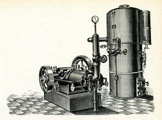 Schmidt Superheated Steam engine ca. 1900