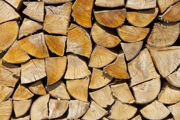 Feuerholz gestapelt