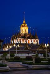 Loha Prasat Metal Palace in Wat Ratchanaddar, Bangkok, Thailand