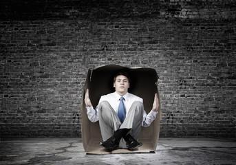 Man in box