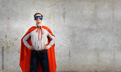 Confident superhero