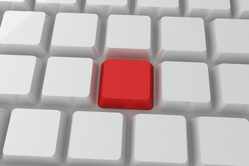 Red key on keyboard