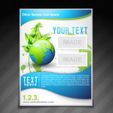 eco friendly brochure flyer template illustration