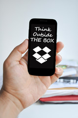 Think outside the box on a smartphone display