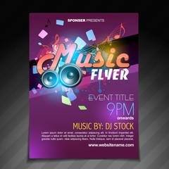 music flyer brochure poster template design
