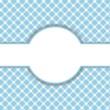 canvas print picture - Blau-weißes Muster mit Freiraum für Text