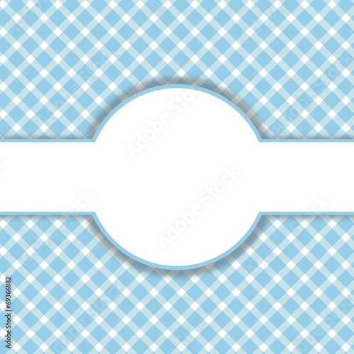 canvas print picture Blau-weißes Muster mit Freiraum für Text