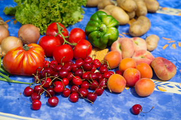 Fruit and vegetables in French garden