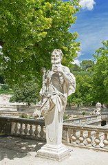 Statue in the park, Nimes, France