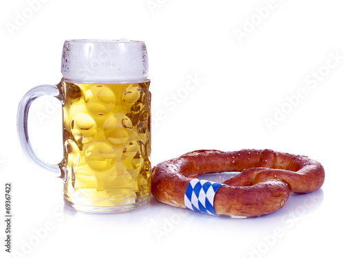 canvas print picture Mass Bier und Breze