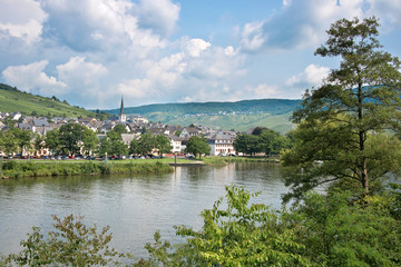 Landscape of the Mosel valley, Germany