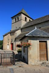 Eglise et bascule de Goulles (Corrèze)