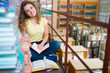 Portrait of clever student with book