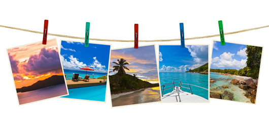 Vacation beach photography on clothespins