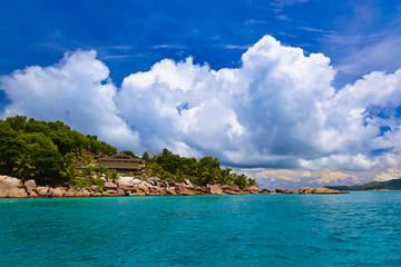 Hotel on tropical beach - La Digue Seychelles