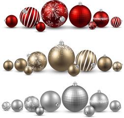 Set of colorful christmas balls.