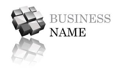 Logo cubique noir et gris
