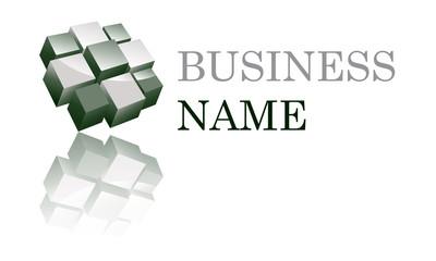 Logo cubique vert pale