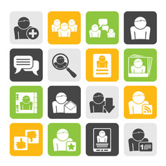Silhouette Social Media and Network icons