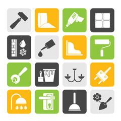 Silhouette Construction and building equipment Icons