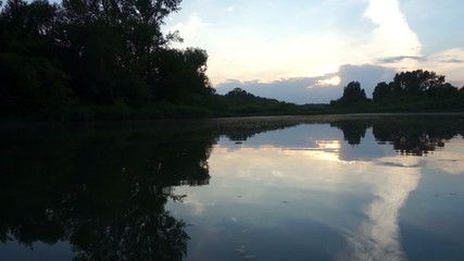 Evening on the Tom River in Western Siberia