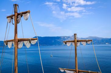 Old sailboat masts