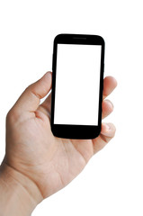 Blank Smartphone screen in hand