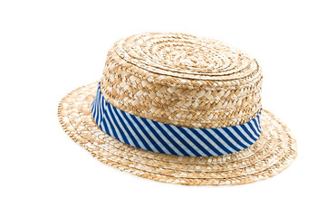 Straw hat isolated on white