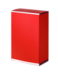 Red cosmetic packaging box