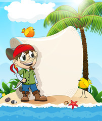 Pirate on a desert island