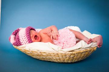 Newborn caucasian girl