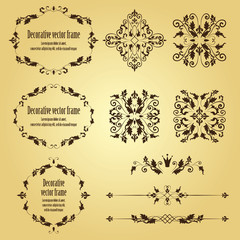 ornamental vintage objects, frames and dividers