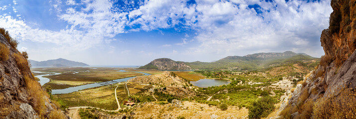 Dalyan river valley