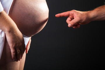 Pregnant causacian woman