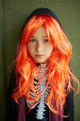 Girl in wig
