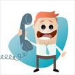 telefon anruf kontakt cartoon mann lustig