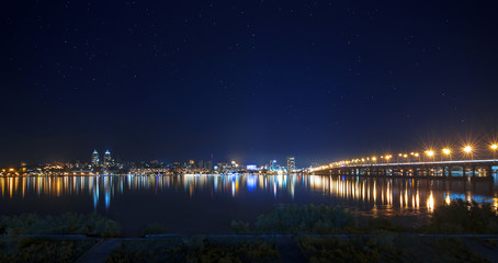 Lights of Right bank of Dnepropetrovsk in the night