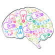 Brain Filled With Ideas Colorful