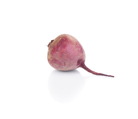 One ripe beetroot.