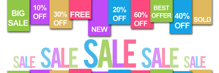 Sale Banner Colorful Text