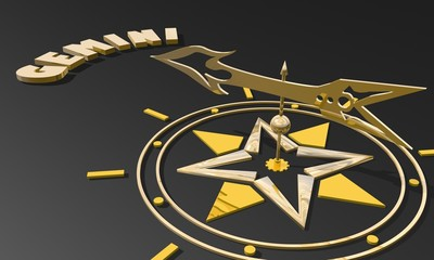 golden compass pointing the zodiac gemini constellation name