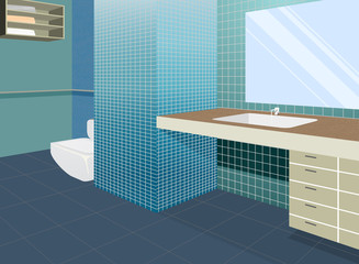 Bathroom colors scene,home interior