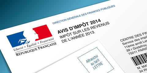 Avis d'impôt 2014 - Vecteur CMJN