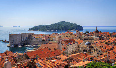 View over old town of Dubrovnik